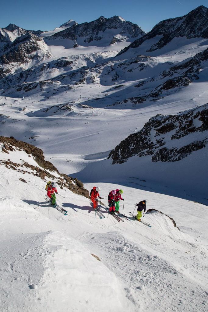 Skitesten am Stubaier Gletscher